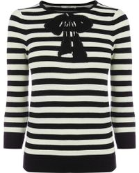 Oasis Belle Bow Stripe Top - Lyst