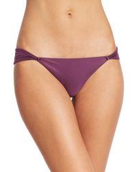 ViX Solid Eggplant Matelasse Loop Bikini Top purple - Lyst