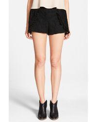 Blu Pepper - Lace Tulip Hem Shorts - Lyst