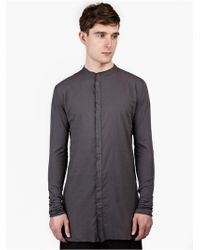 Thom Krom Men'S Grey Cotton Granddad Shirt gray - Lyst