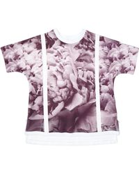 Inter-pret.us Peony Print Scuba Tee Made To Order purple - Lyst