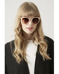 Topshop Matte Faded Metal Sunglasses - Lyst