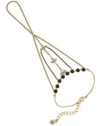 BCBGeneration - Faux Pearl Hand Chain Bracelet - Lyst