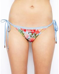 MINKPINK   Baby Blues Tie Side Bikini Bottom   Lyst