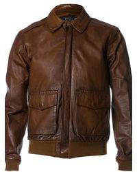 Ralph Lauren Blue Label 'Ashburn' Leather Jacket - Lyst