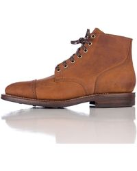 Viberg | Service Boot In Tobacco Chamois | Lyst