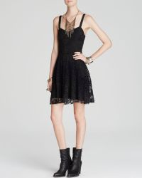 Free People Dress - Lace Overlay - Lyst