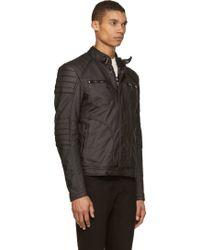 Belstaff Black Coated Cotton Weybridge Biker Jacket - Lyst