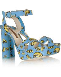 Sophia Webster Amanda Printed Faille Sandals - Lyst