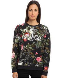 Vivienne Westwood Anglomania Floral Sweatshirt - Lyst