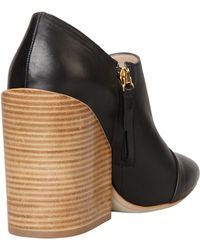 Chloé Wideheeled Pointy Bootie - Lyst