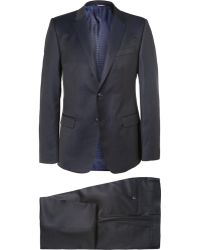 Dolce & Gabbana Blue Slim-Fit Pin-Dot Wool Three-Piece Suit - Lyst