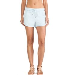 Splendid Indigo Dye Bottom Short - Lyst