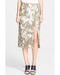 Jason Wu Print Midi Wrap Skirt - Lyst