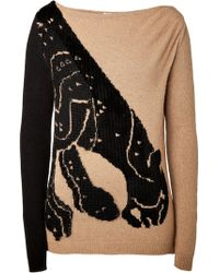 Vionnet Camel Hairmohair Intarsia Knit Pullover - Lyst