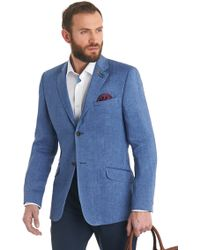 Ted Baker Tailored Fit Blue Herringbone Jacket - Lyst