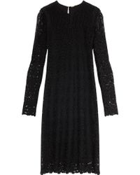 Adam Lippes Lk12 Ls Lace Dress - Lyst
