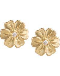 Jamie Wolf - Lilac Stud Earrings With Diamonds - Lyst