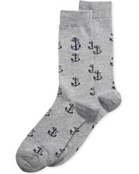 Sperry Top-Sider - Mens Textured Anchor Crew Socks - Lyst
