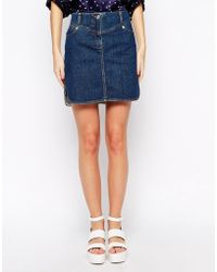 See By Chloé Denim Mini Skirt - Lyst