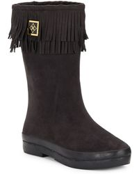 Dav Sydney Mid-calf Fringe Boots - Lyst
