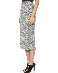 Torn By Ronny Kobo - Nili Skirt - Black Sketch - Lyst