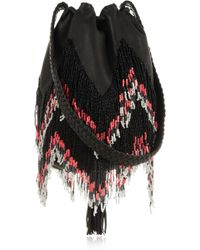 En Shalla Beaded Leather Shoulder Bag - Lyst