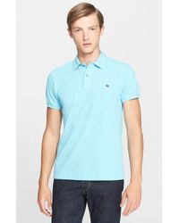Etro Trim Fit Print Collar Polo - Lyst