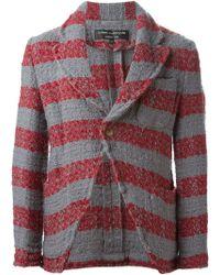 Comme Des Garçons Striped Jacket - Lyst