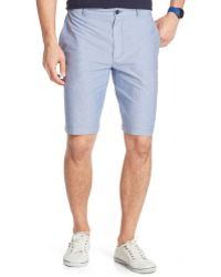 Izod Flat-front Oxford Shorts - Lyst