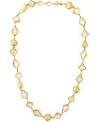 Yves Saint Laurent Vintage Resin Stone Necklace - Lyst