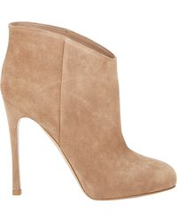 Gianvito Rossi Hidden-Platform Ankle Boots - Lyst
