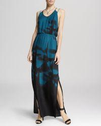 Halston Heritage Dress - Sleeveless Print Maxi - Lyst
