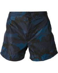 Valentino Camouflage Swim Shorts - Lyst