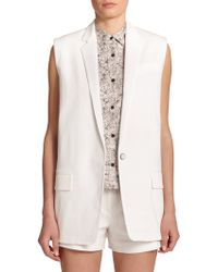 Rag & Bone Stretch-Cotton Francois Vest white - Lyst