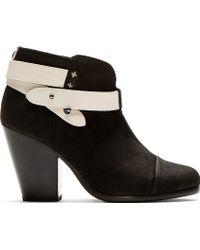 Rag & Bone Black Nubuck Harrow Ankle Boots - Lyst