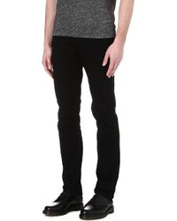 Sandro Tapered Slim Midrise Jeans Black - Lyst