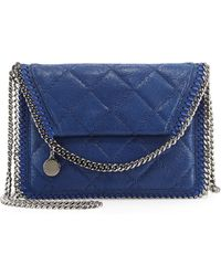 Stella McCartney Falabella Quilted Flap Crossbody Bag - Lyst