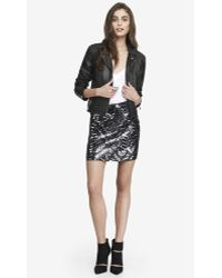Express High Waisted Sequin Mini Skirt - Lyst