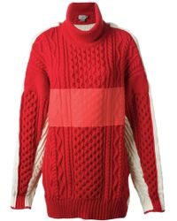 Preen Chunky Knit Turtle Neck Sweater - Lyst
