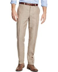 Tommy Hilfiger Winslow Striped Linen Pants brown - Lyst