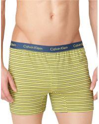 Calvin Klein Slim Fit Knit Boxer Shorts - Lyst