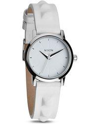Nixon The Kenzi Studded Leather Strap Watch 26mm - Lyst