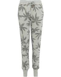 Zoe Karssen Light Blue Palm Sweatpants - Lyst