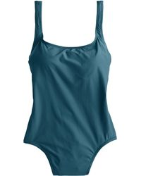 J.Crew Scoopback One-Piece Swimsuit teal - Lyst
