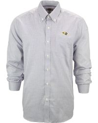 Cutter & Buck Men'S Baltimore Ravens Tattersall Dress Shirt - Lyst