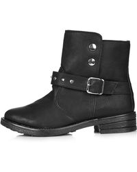 Topshop Bike Biker Boot - Lyst