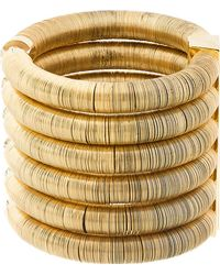 Balmain Gold Stacked Coil Cuff - Lyst