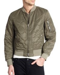 Rag & Bone Quilted Bomber Jacket - Lyst