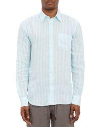 Vilebrequin Stripe Linen Shirt - Lyst